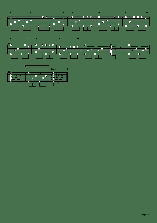 擦肩而过吉他谱3