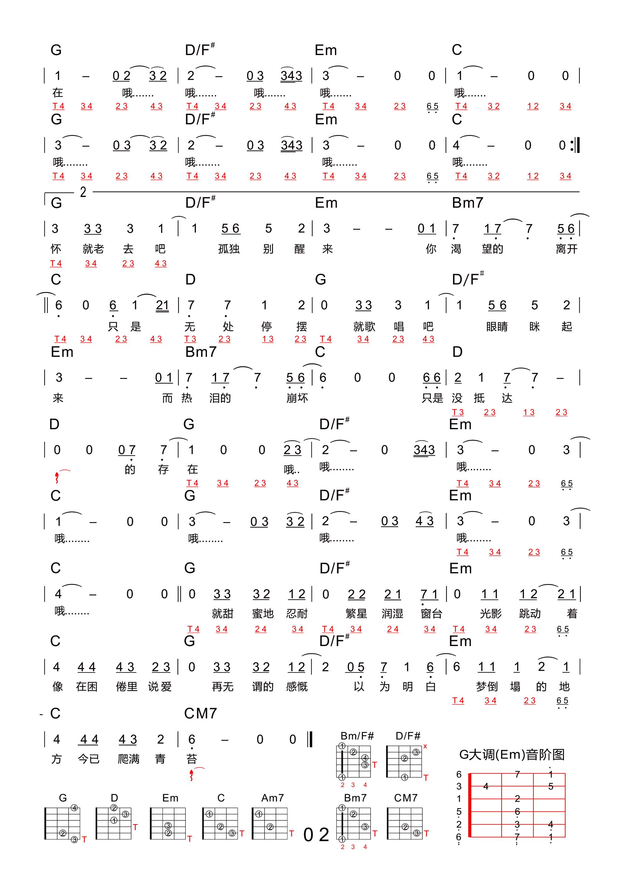 理想三旬吉他谱2