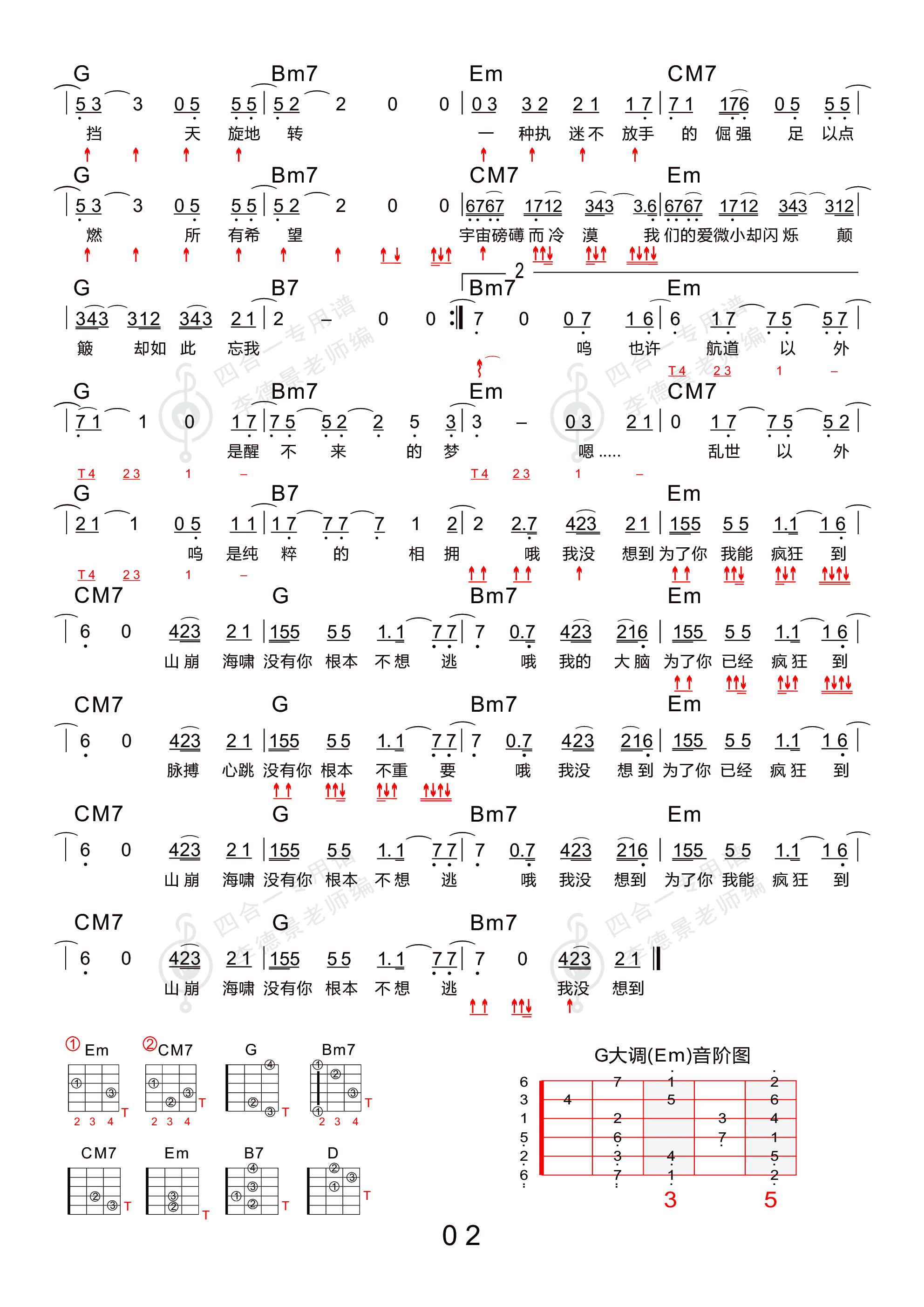 光年之外吉他谱2