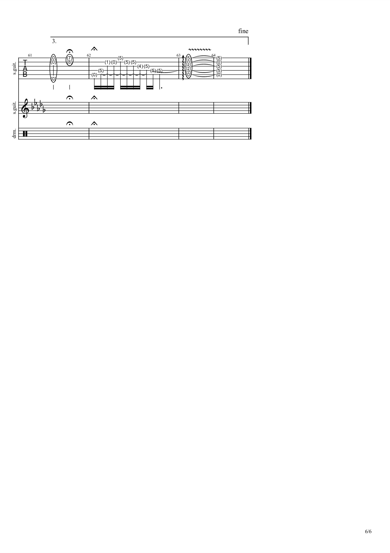 如歌(电视剧<烈火如歌>片头曲)吉他谱6