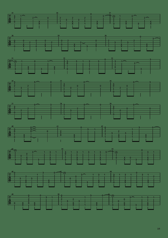 寄明月吉他谱2