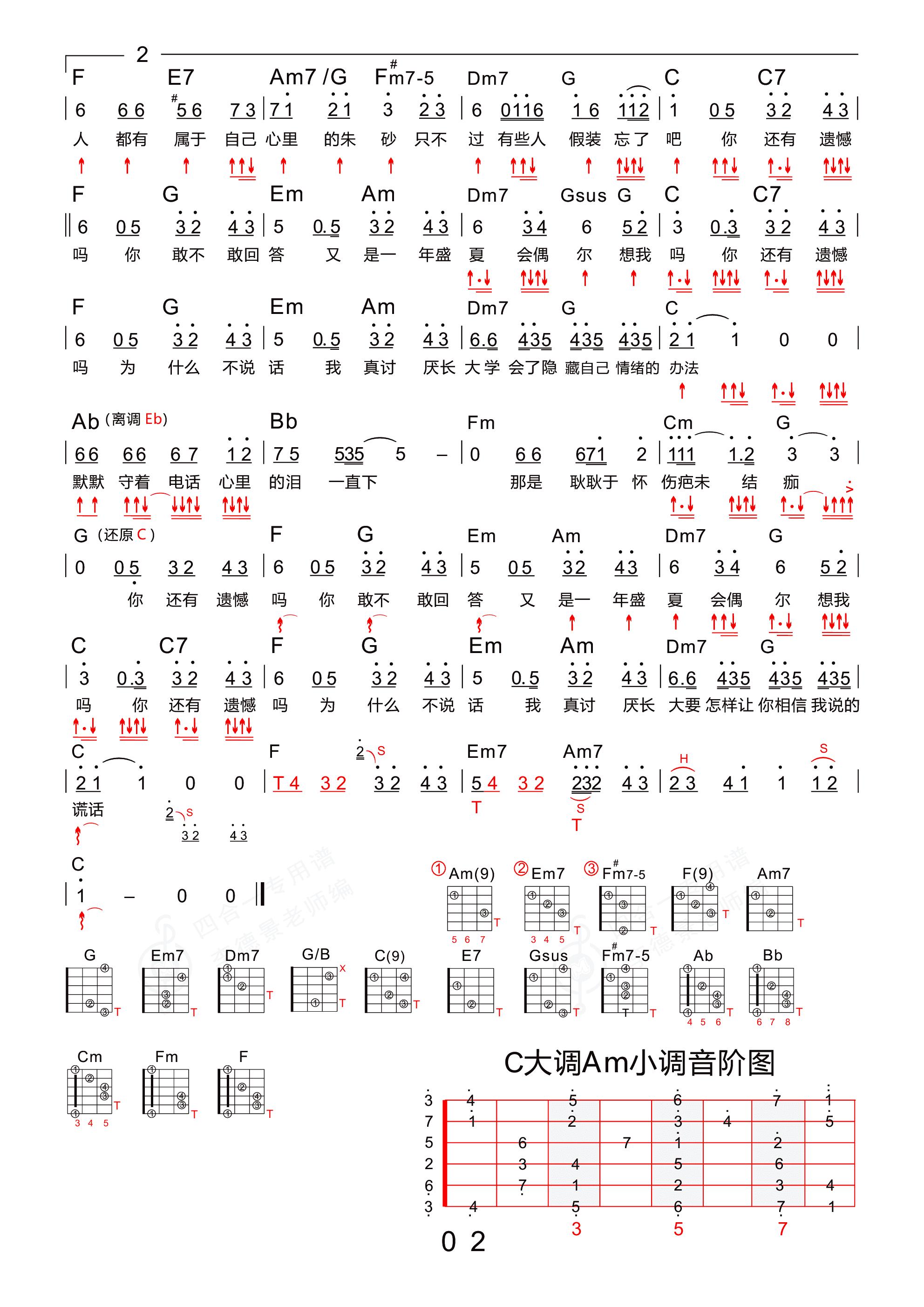 耿(新四合一吉他专用谱)吉他谱2