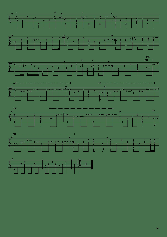 说好不哭(泛音指弹版)吉他谱2