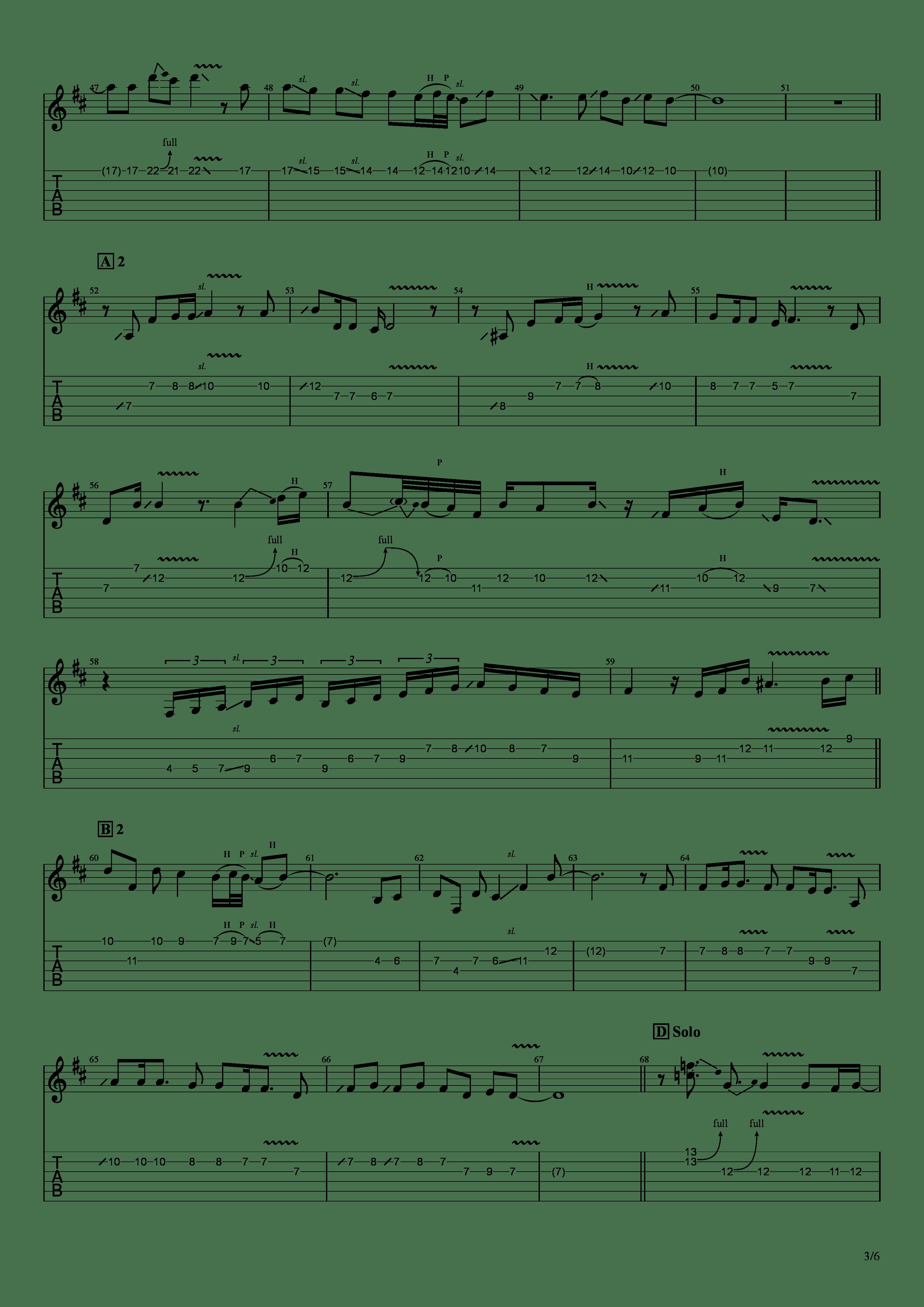 かけら(121433)吉他谱3