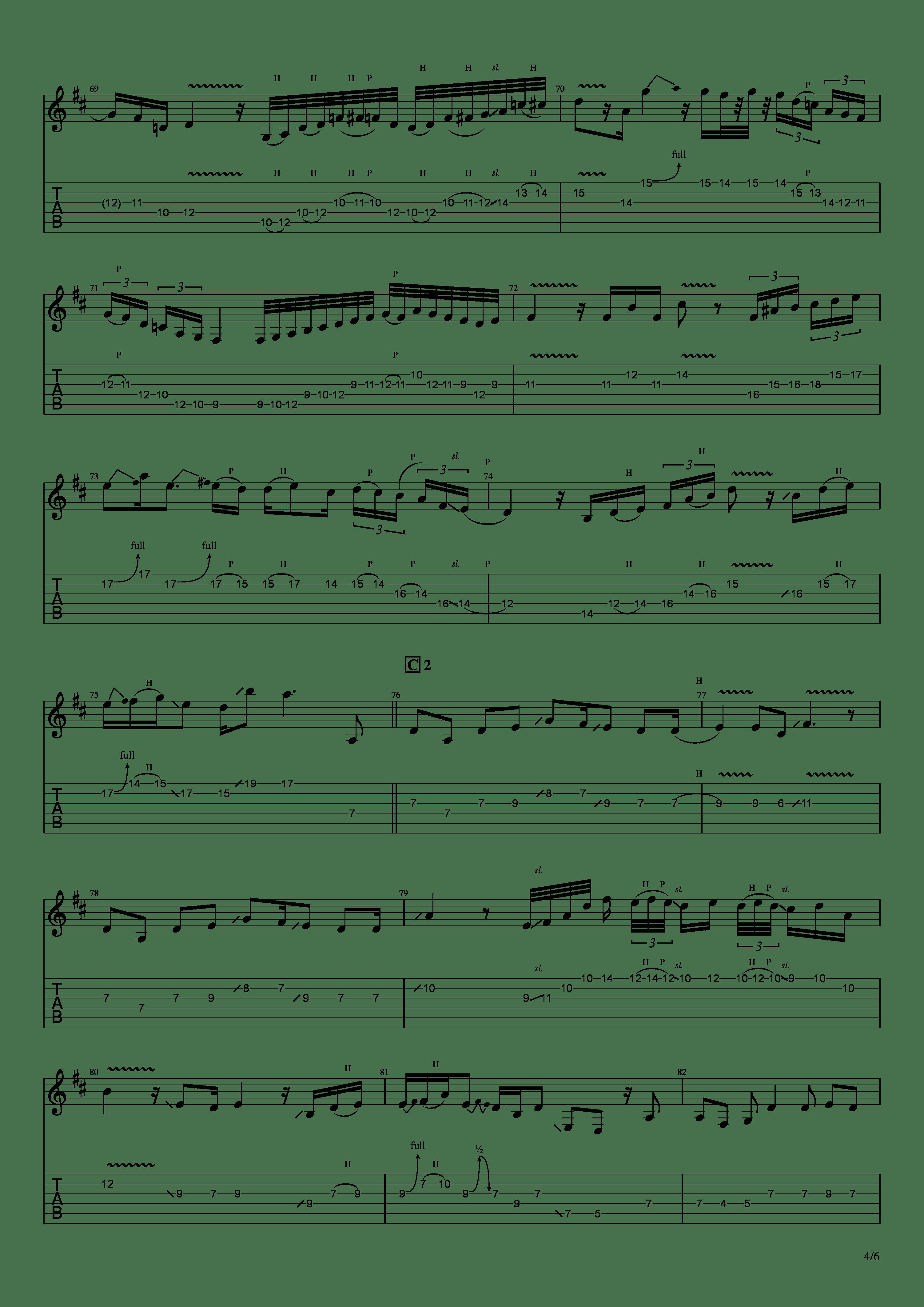 かけら(121433)吉他谱4