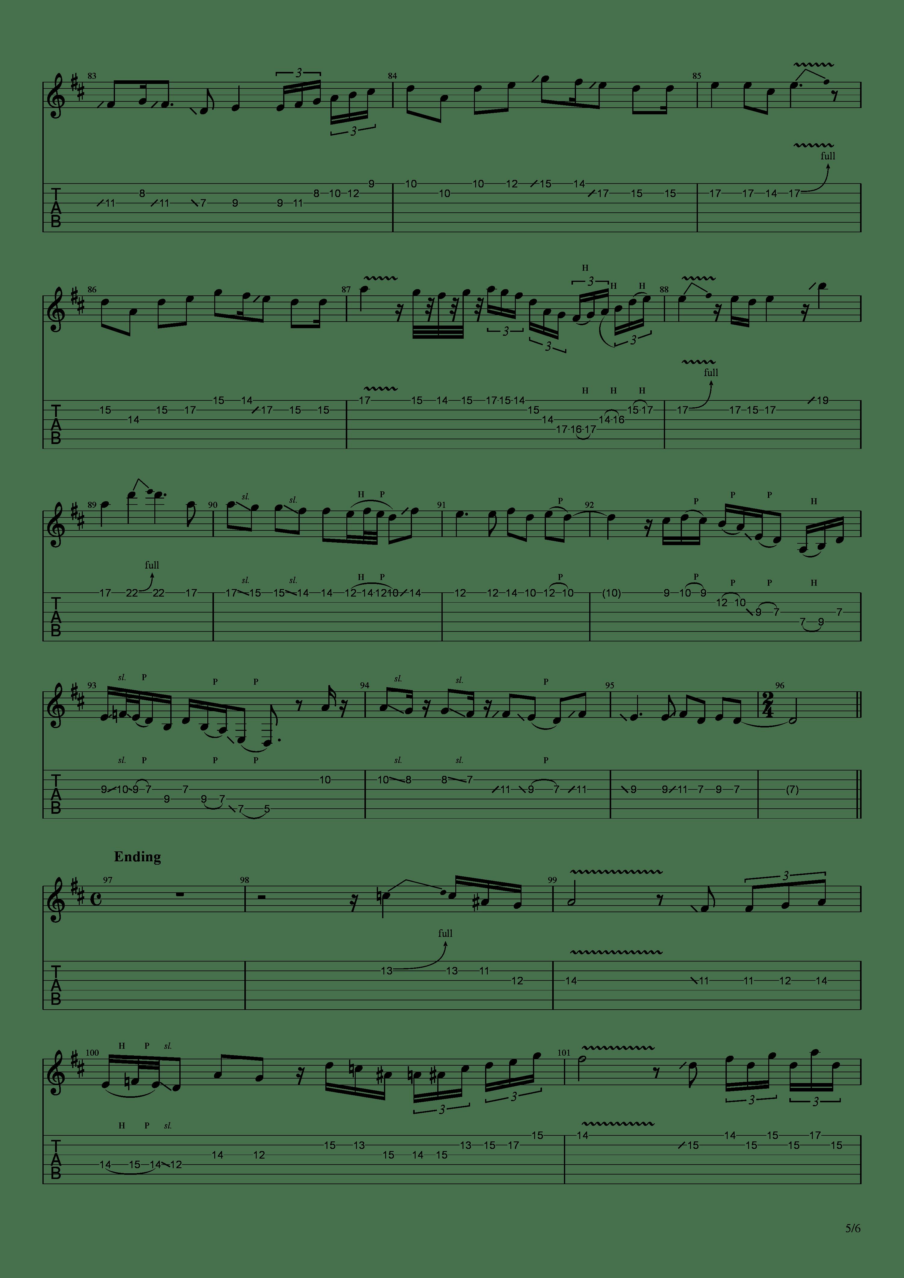 かけら(121433)吉他谱5