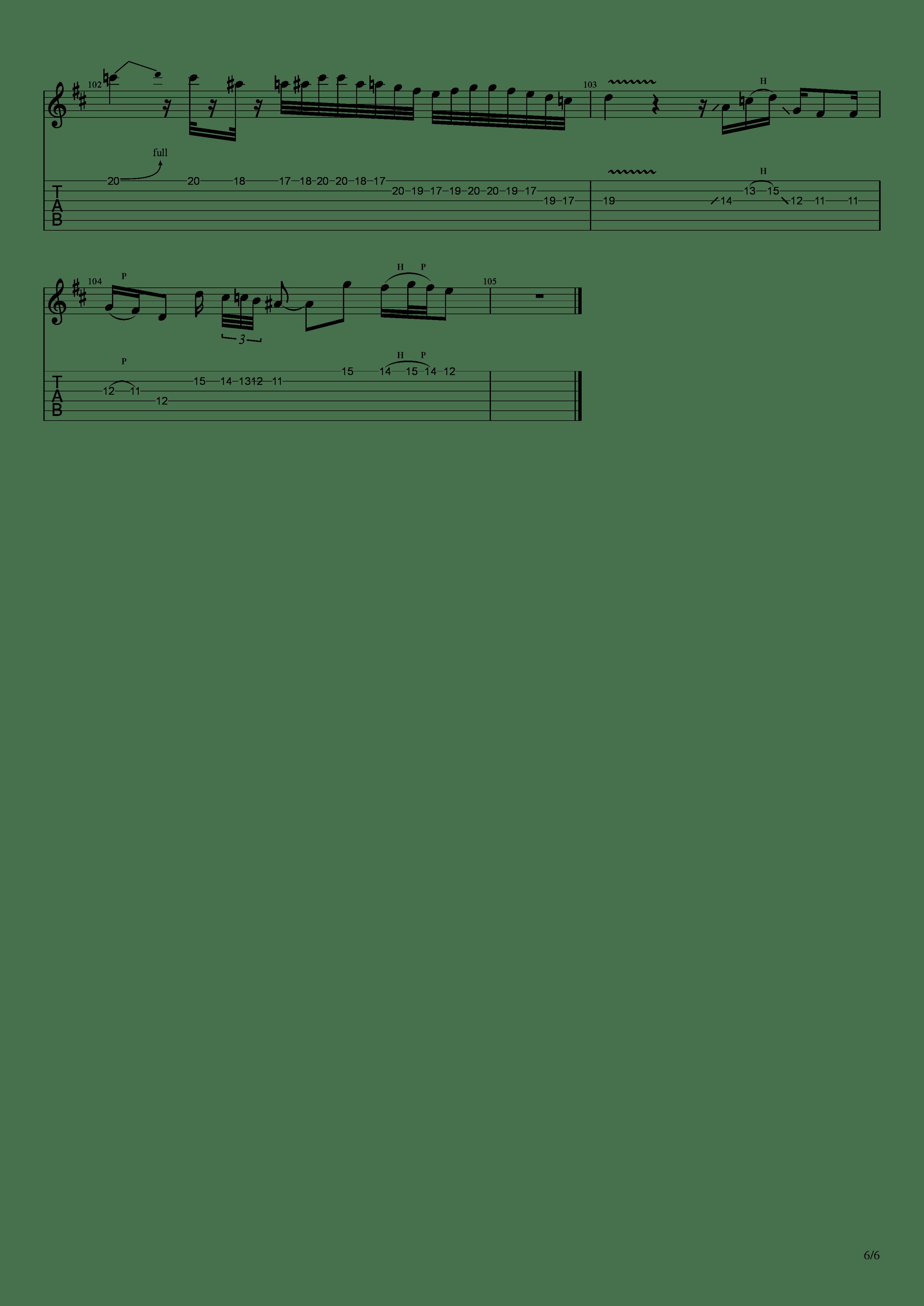 かけら(121433)吉他谱6