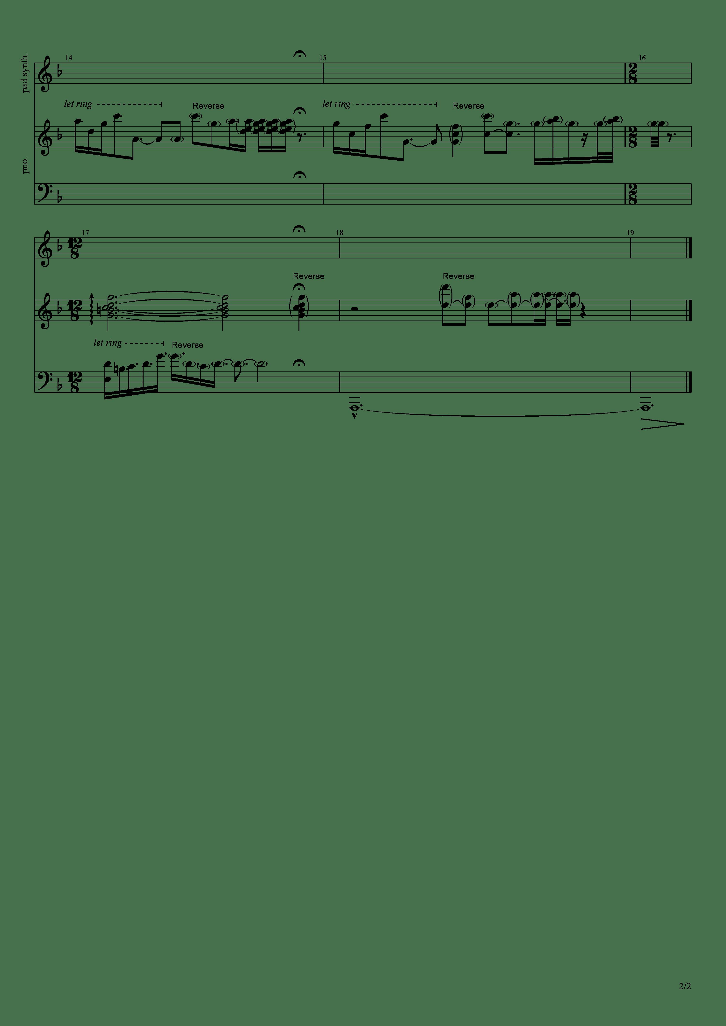 二つの告白吉他谱2