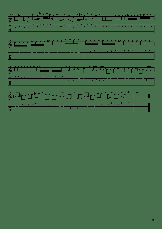 逝去的歌(主音吉他谱含solo)吉他谱2