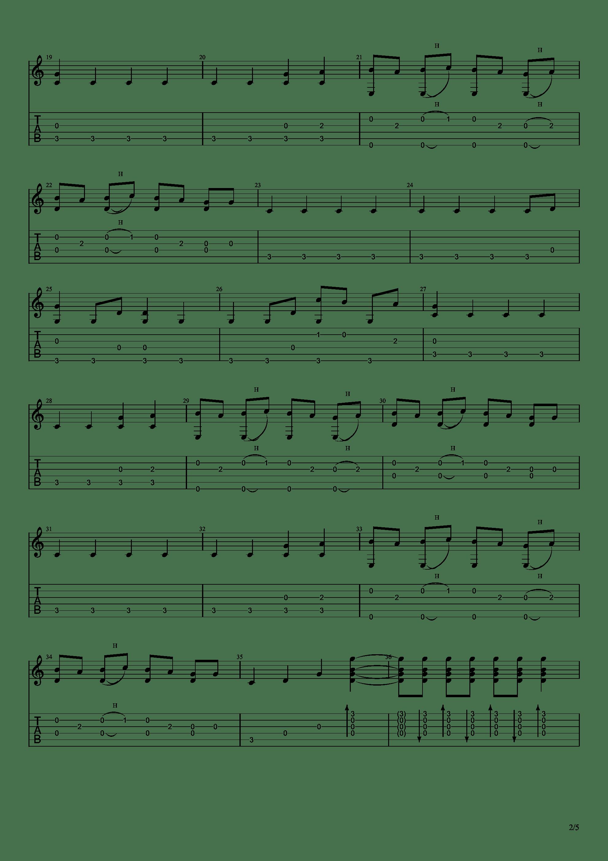 你的名字 - 前前前世(指弹简单版)吉他谱2