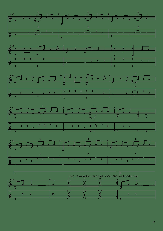 你的名字 - 前前前世(指弹简单版)吉他谱4