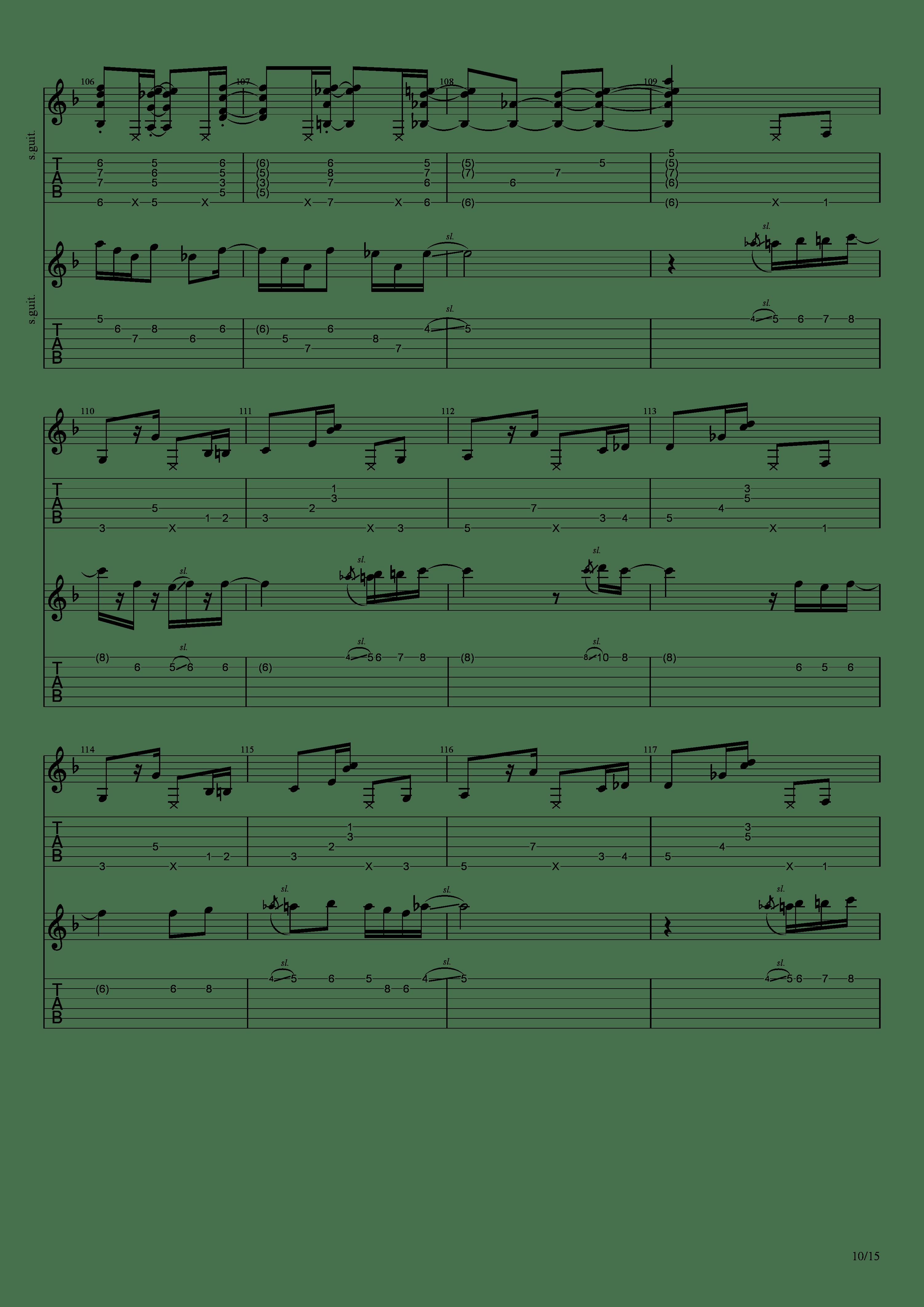Labyrinth (松井佑贵&井草圣二)吉他谱10