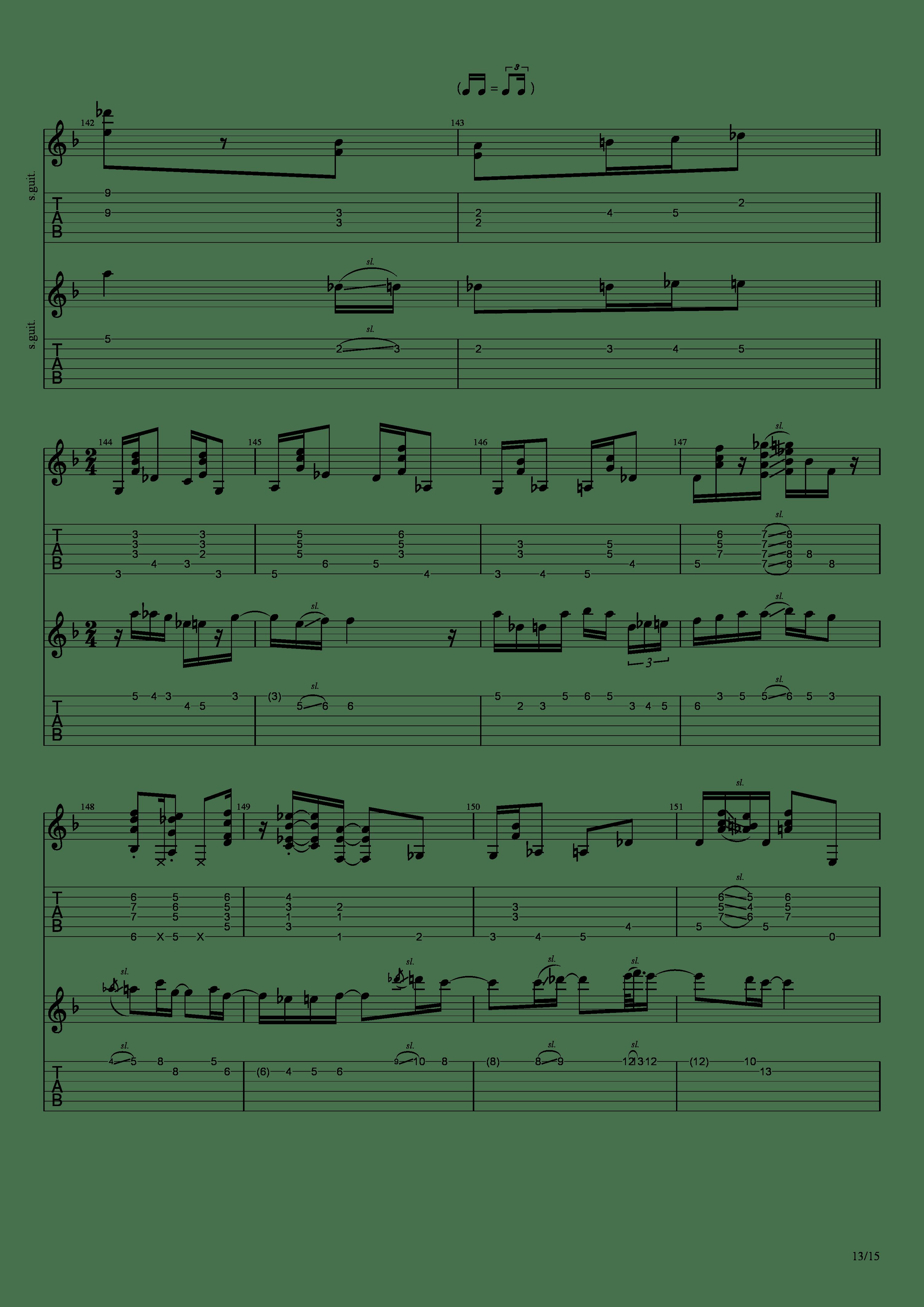 Labyrinth (松井佑贵&井草圣二)吉他谱13