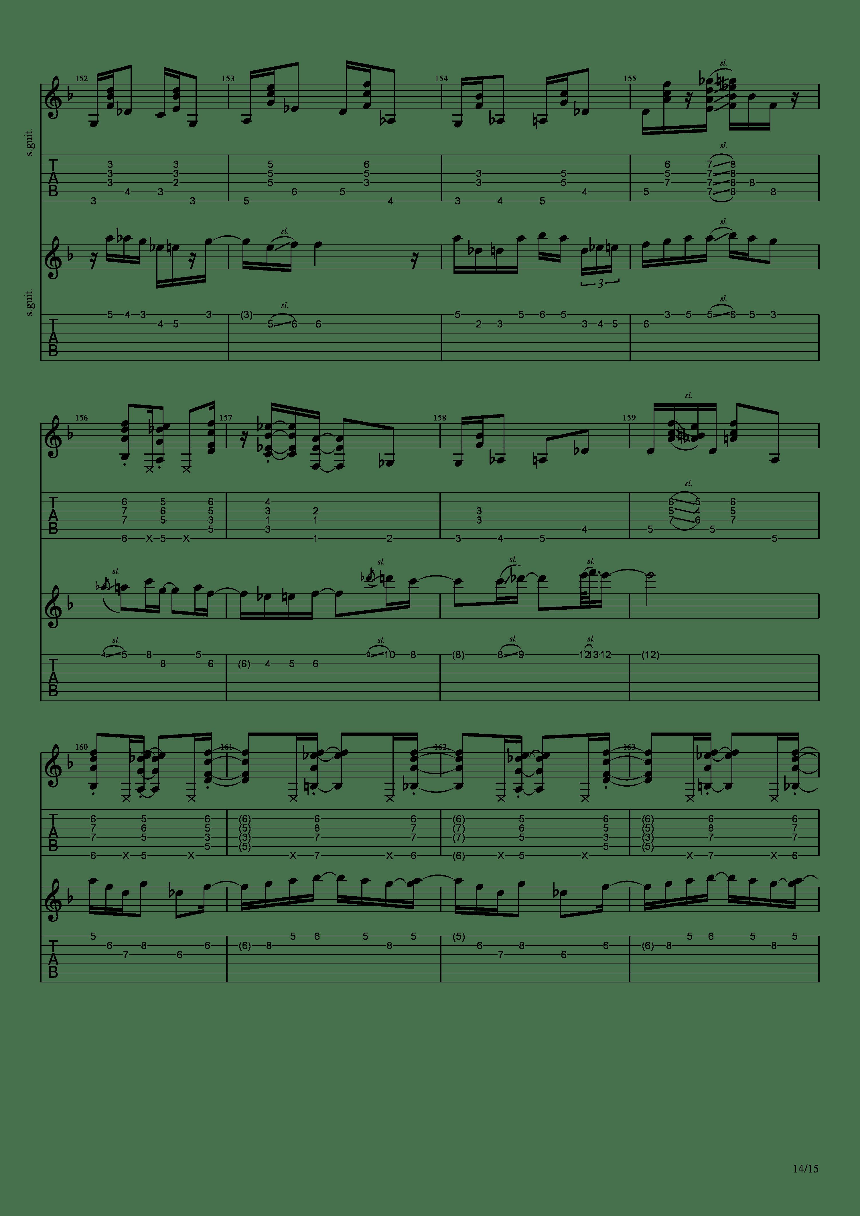 Labyrinth (松井佑贵&井草圣二)吉他谱14