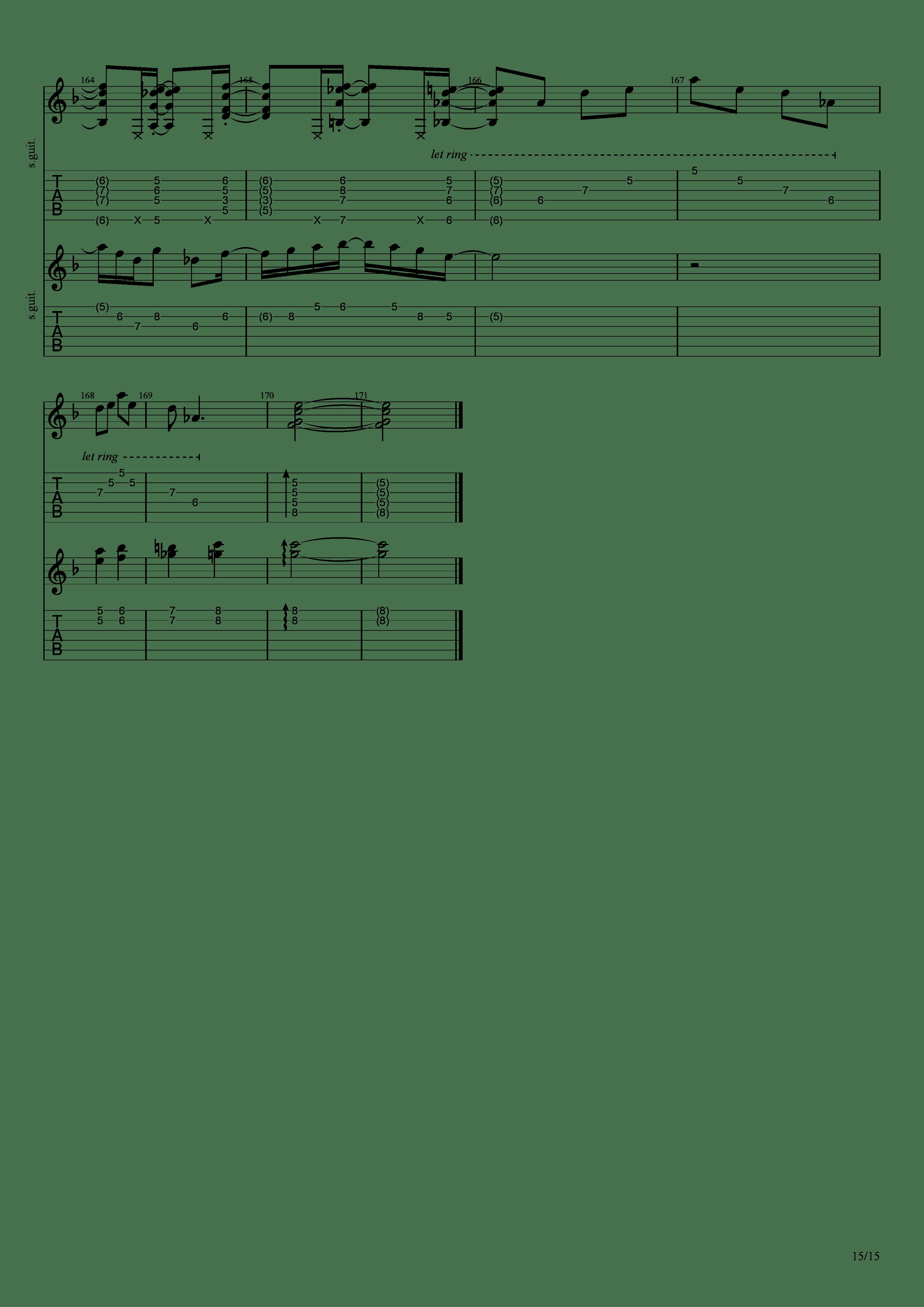 Labyrinth (松井佑贵&井草圣二)吉他谱15
