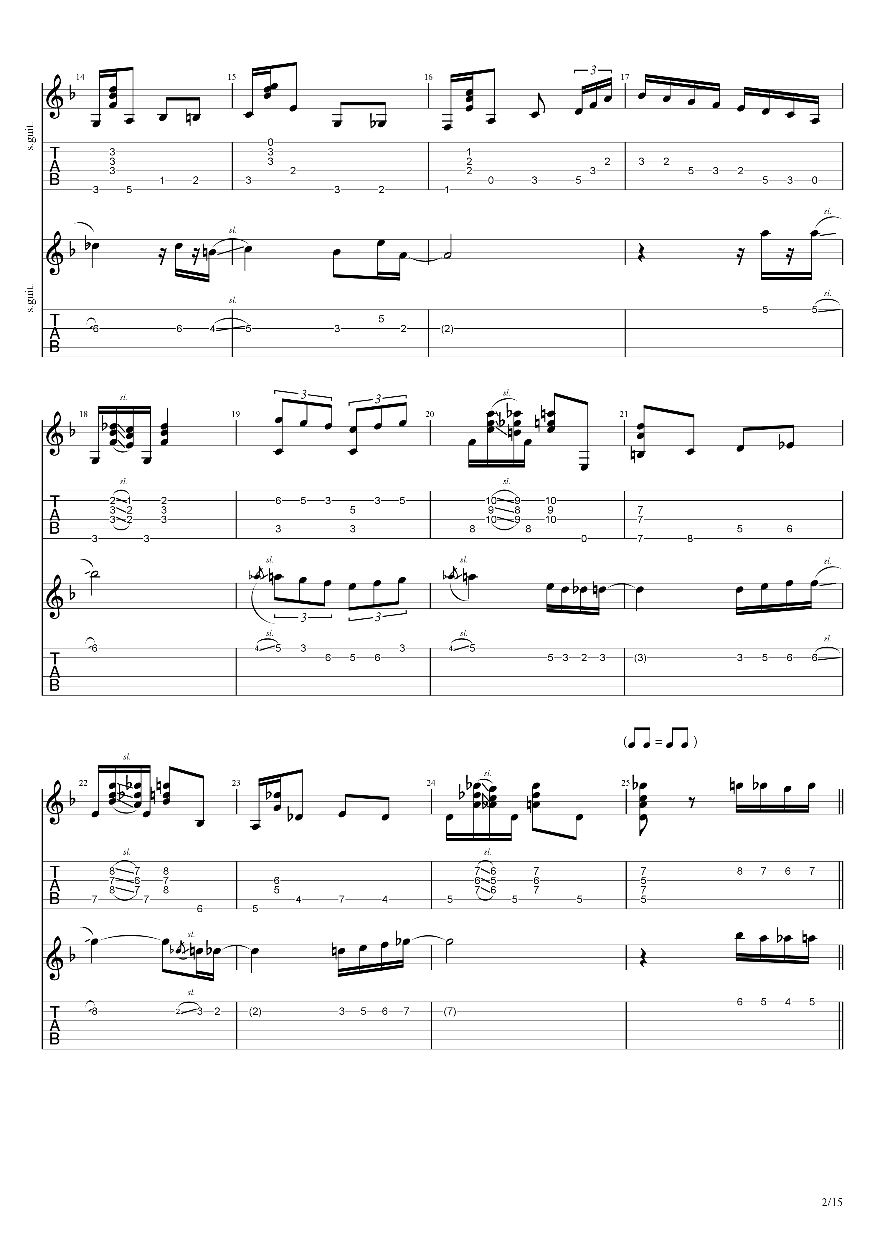 Labyrinth (松井佑贵&井草圣二)吉他谱2