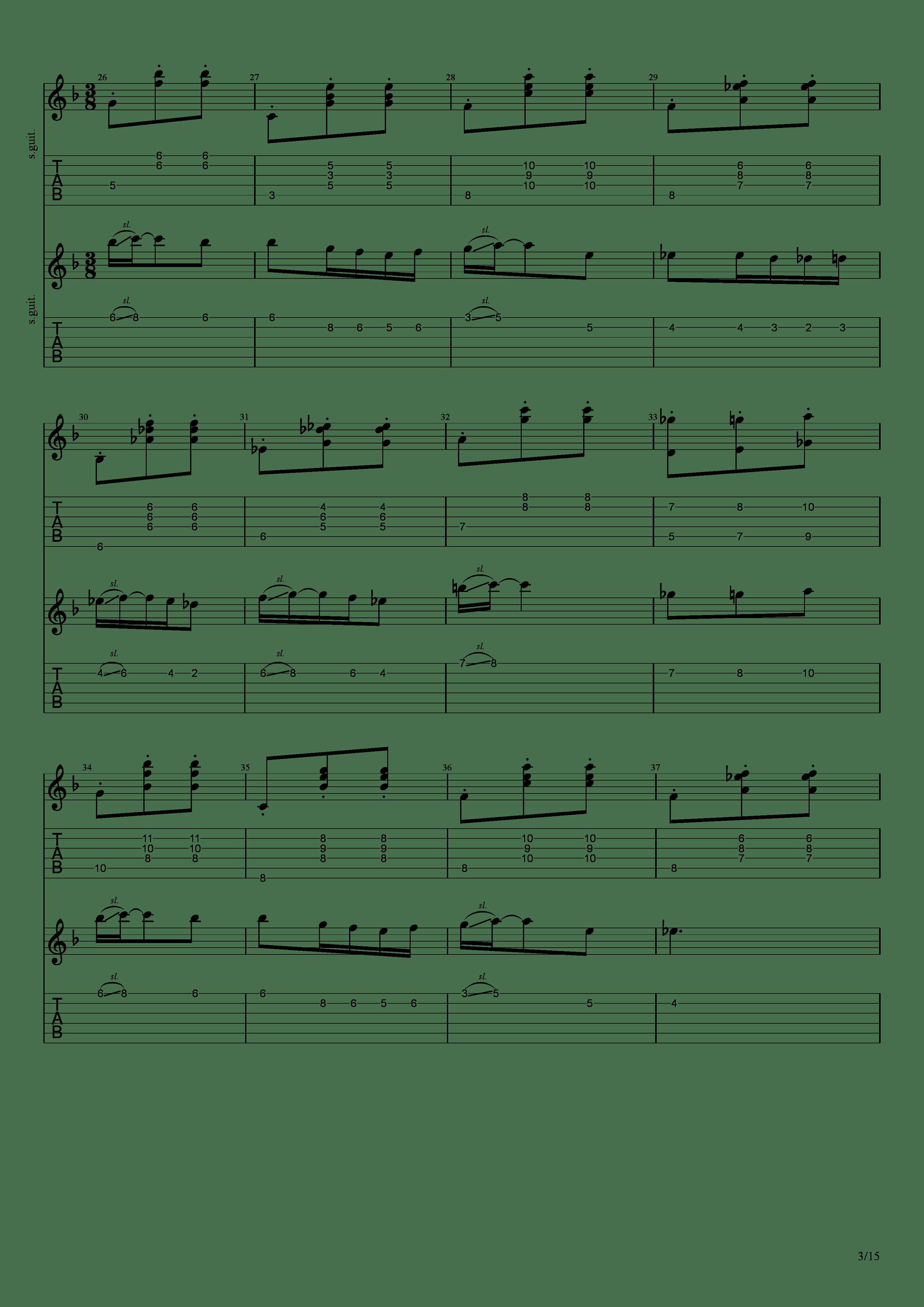 Labyrinth (松井佑贵&井草圣二)吉他谱3