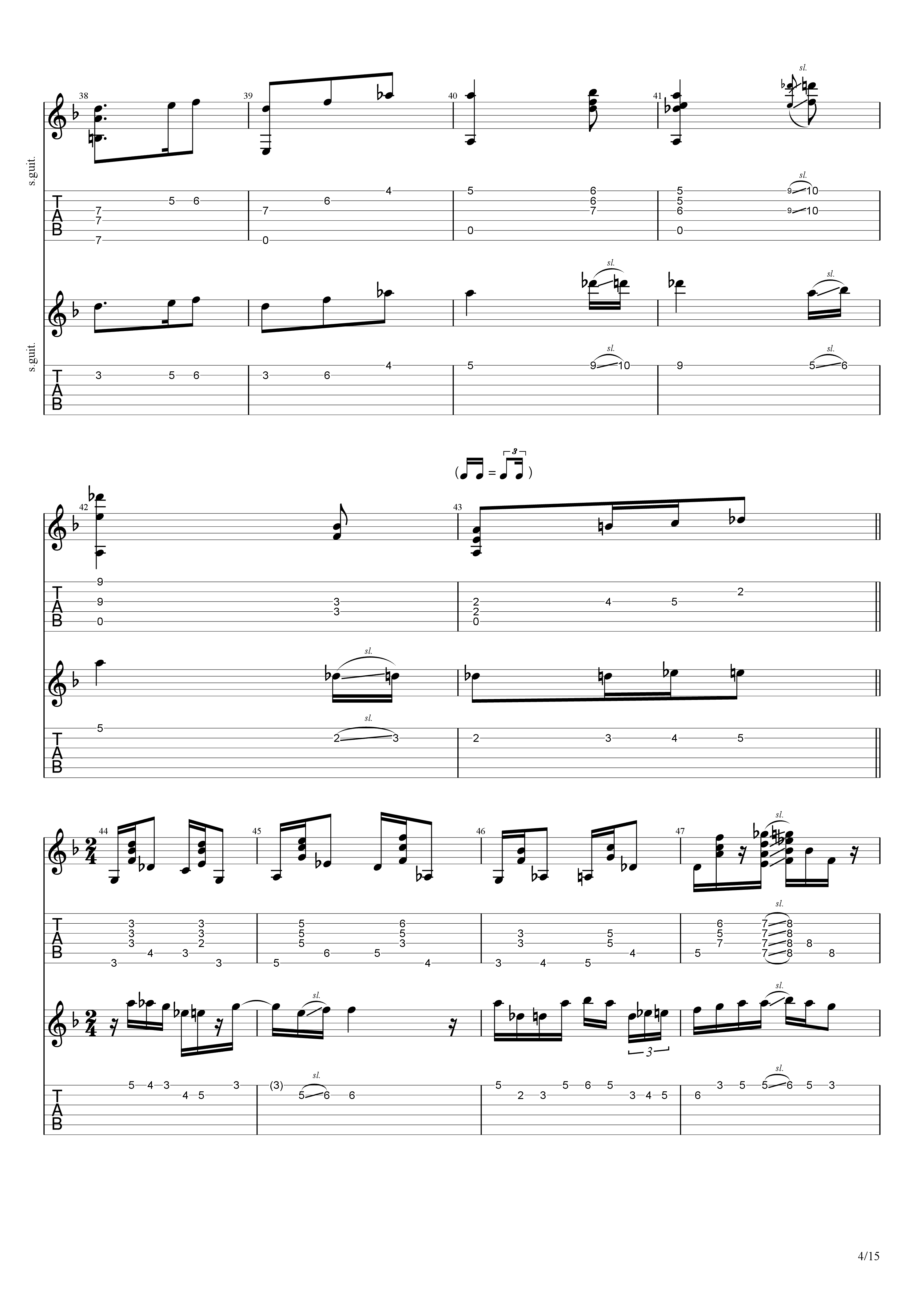 Labyrinth (松井佑贵&井草圣二)吉他谱4