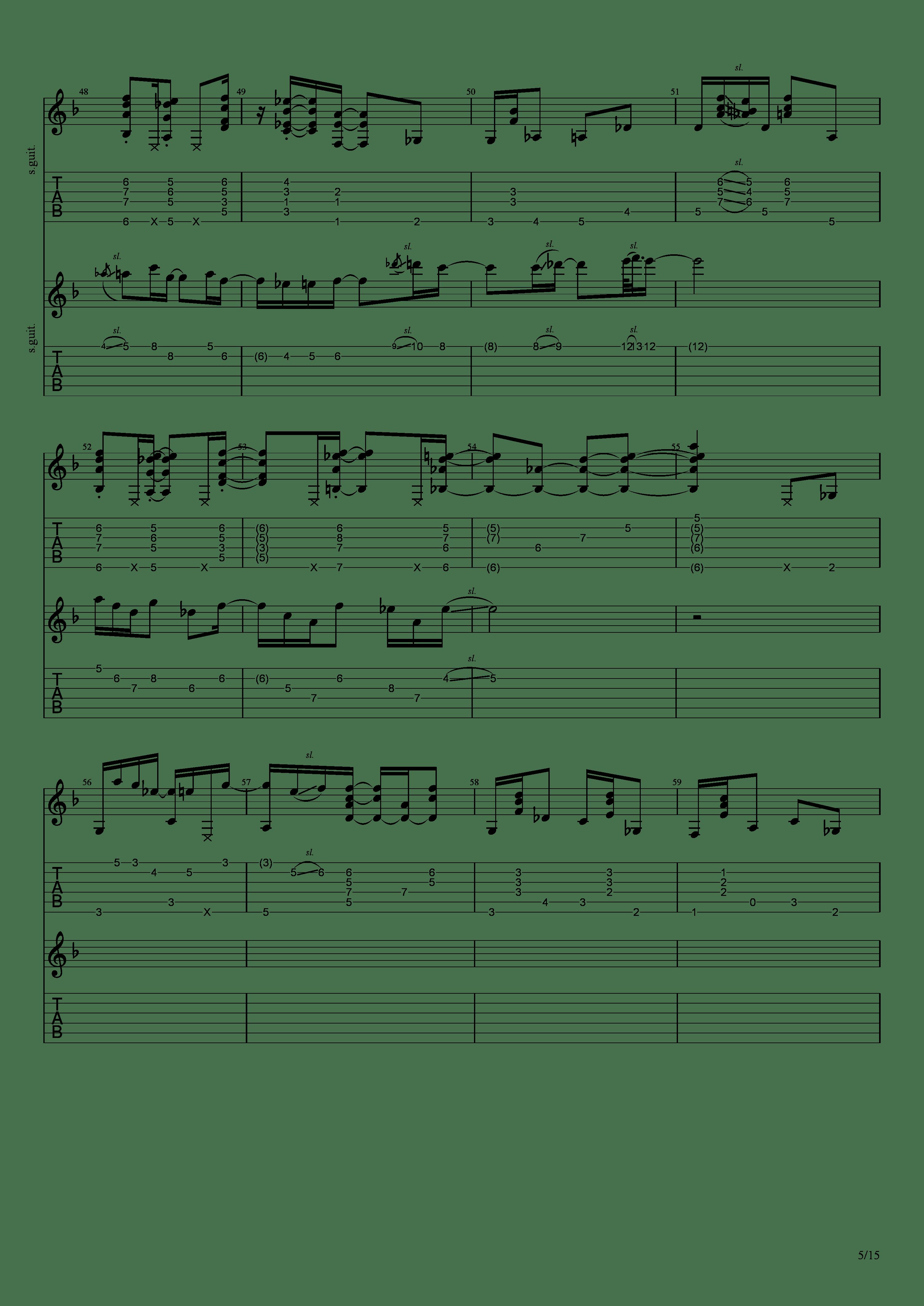 Labyrinth (松井佑贵&井草圣二)吉他谱5