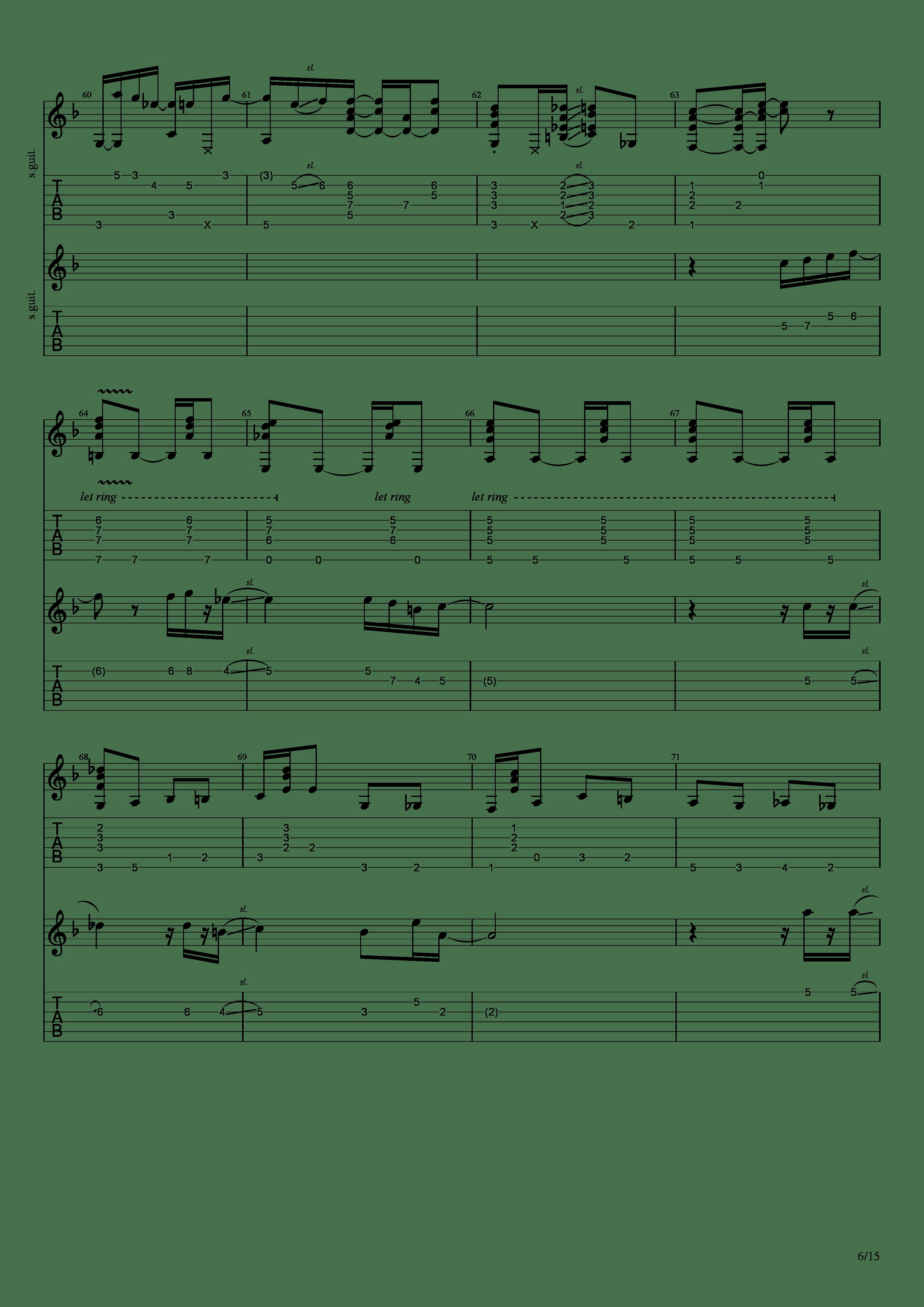 Labyrinth (松井佑贵&井草圣二)吉他谱6