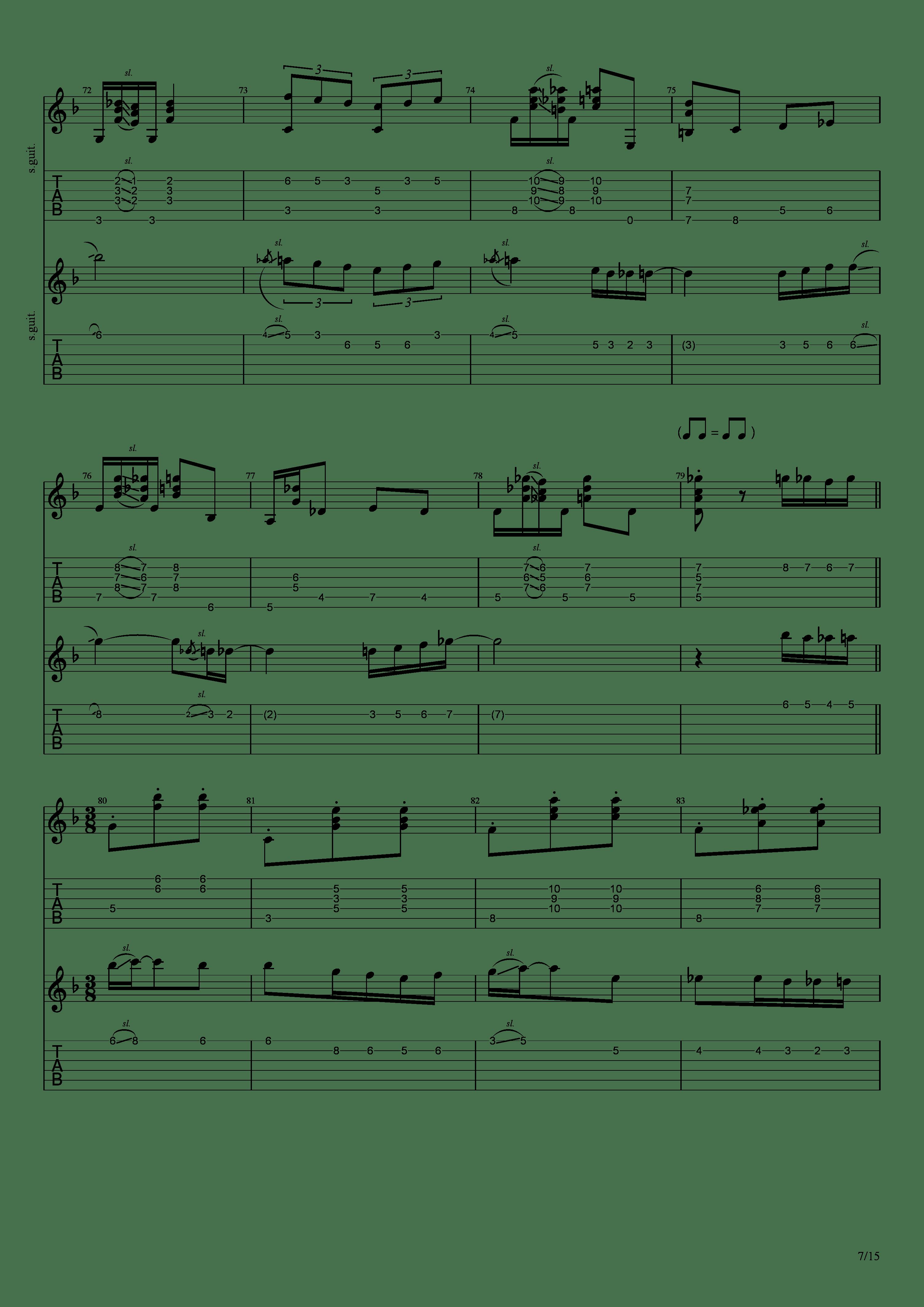 Labyrinth (松井佑贵&井草圣二)吉他谱7