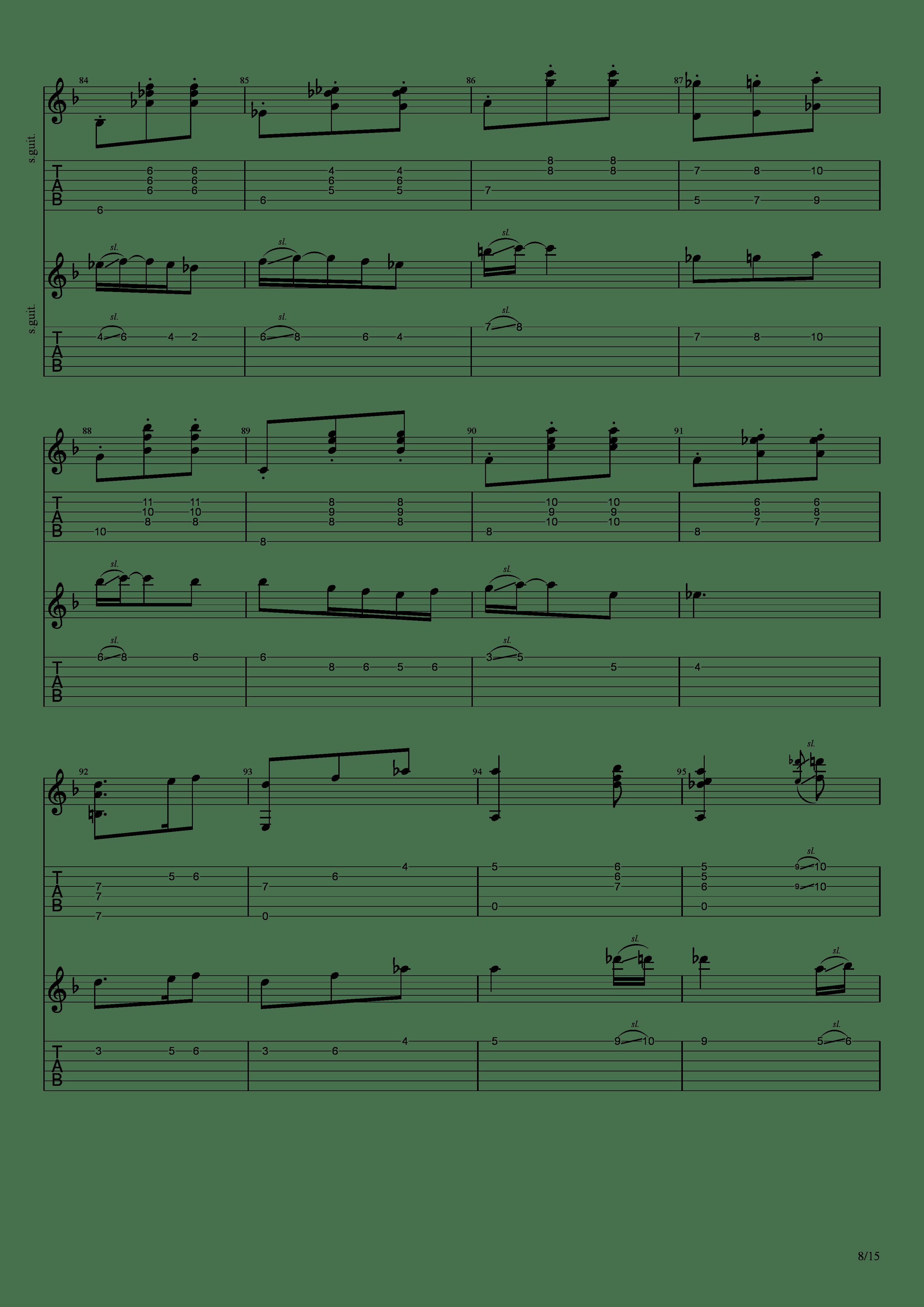 Labyrinth (松井佑贵&井草圣二)吉他谱8
