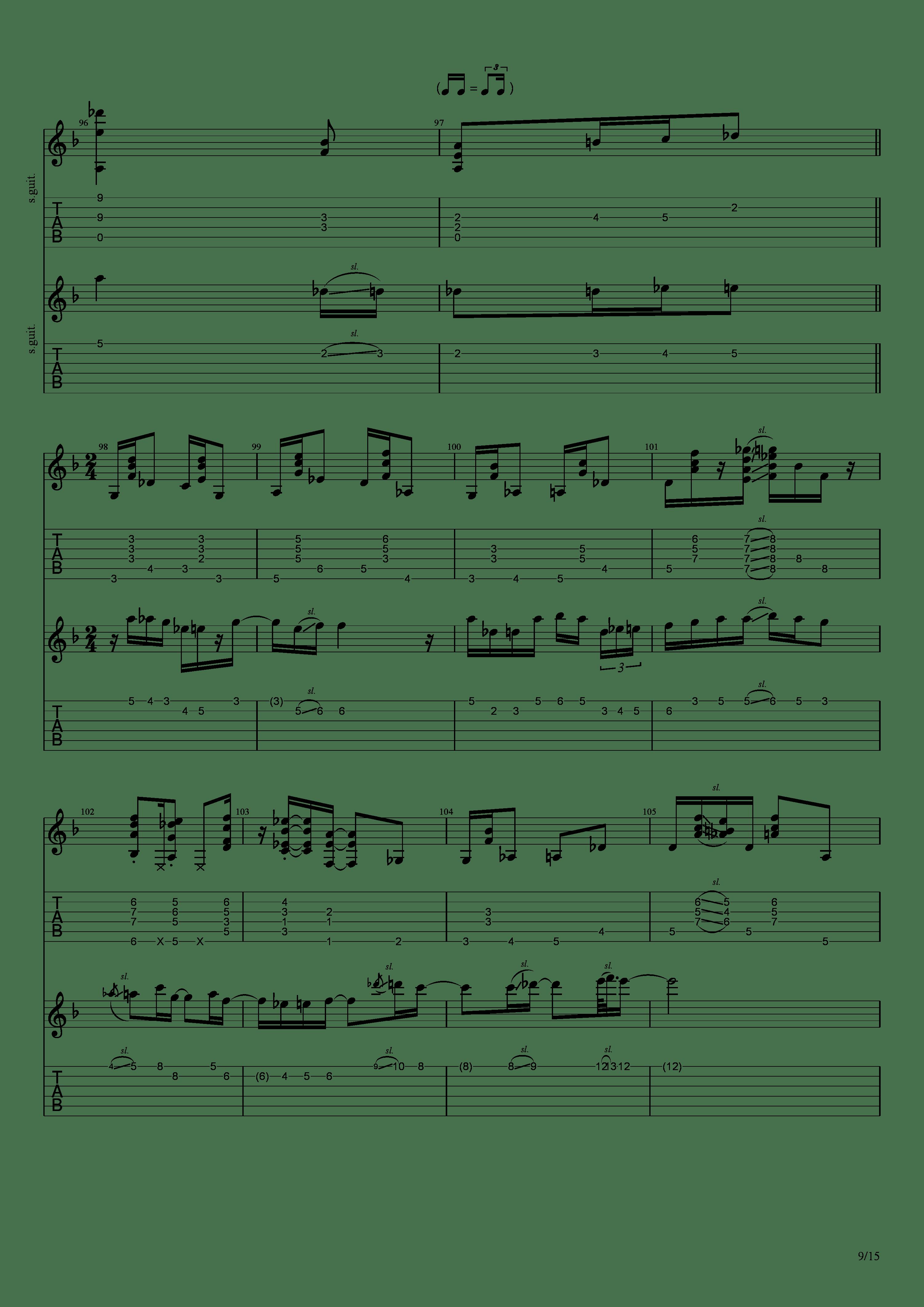 Labyrinth (松井佑贵&井草圣二)吉他谱9
