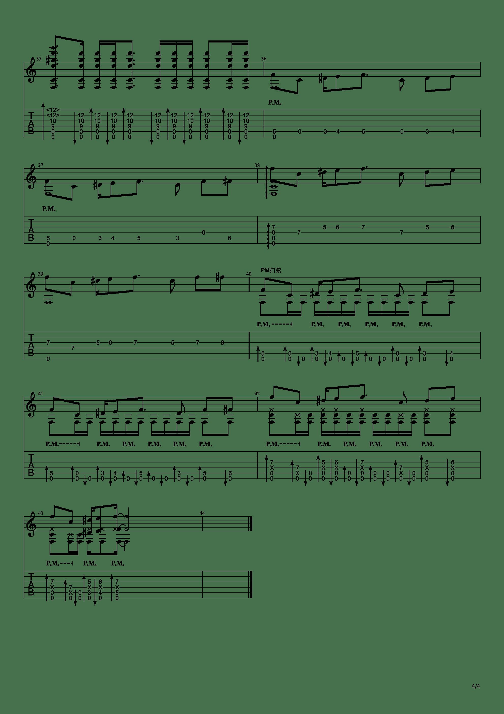 「白金处刑曲」JOJO的奇妙冒险 | 空条承太郎 | 白金之星(金渴啦)スターダストクルセイダース吉他谱4