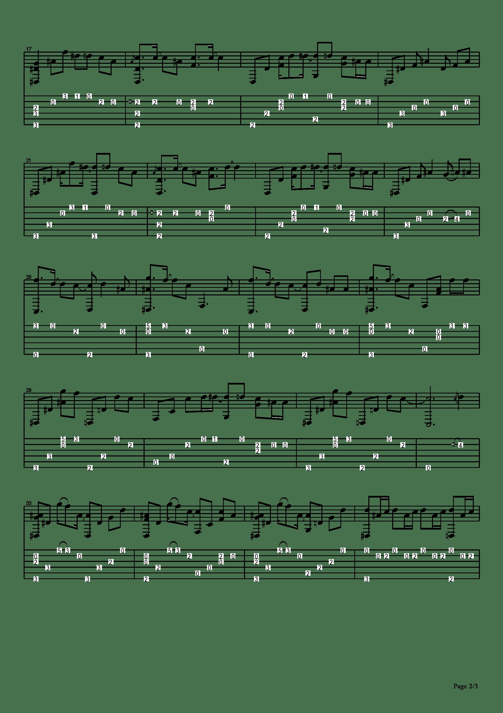 Shelter吉他譜2