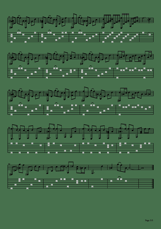Shelter吉他譜3