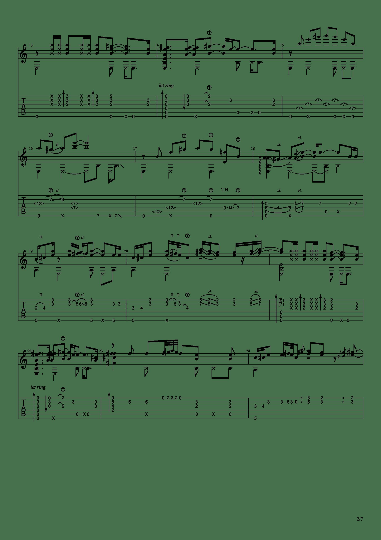 Black or white(狠人哥 Alip_ba_ta cover)吉他谱2