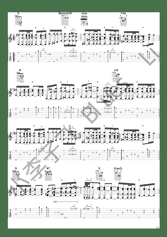 Kalung Emas (狠人哥Alip_ba_ta cover)吉他谱3