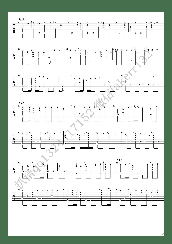 春はゆく(春逝)吉他谱3