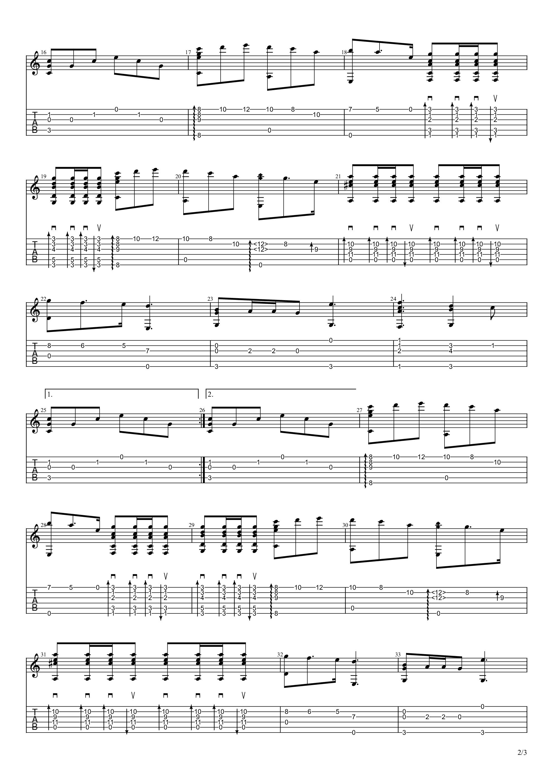 我和我的祖国吉他谱2