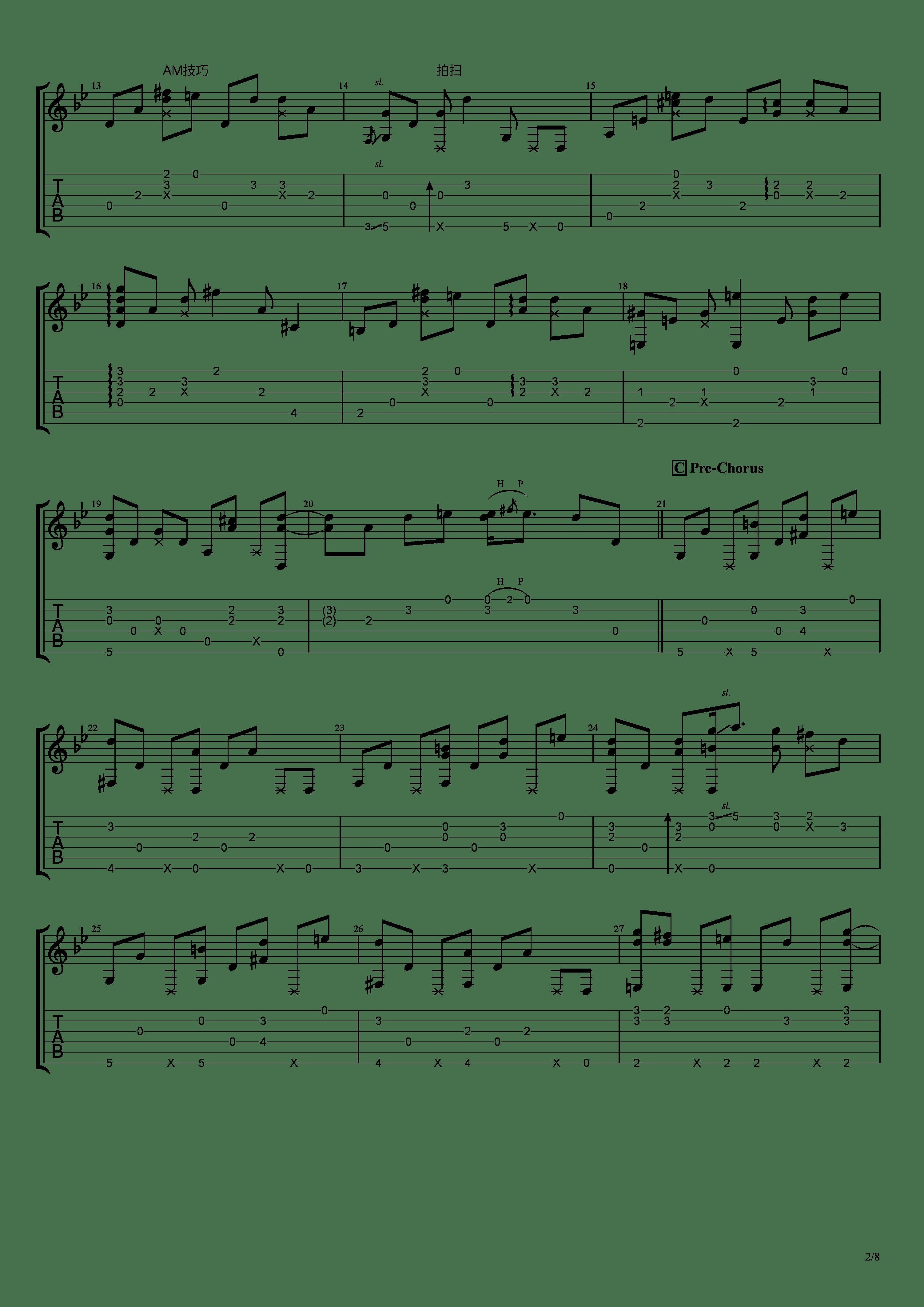 穏やかな日吉他谱2