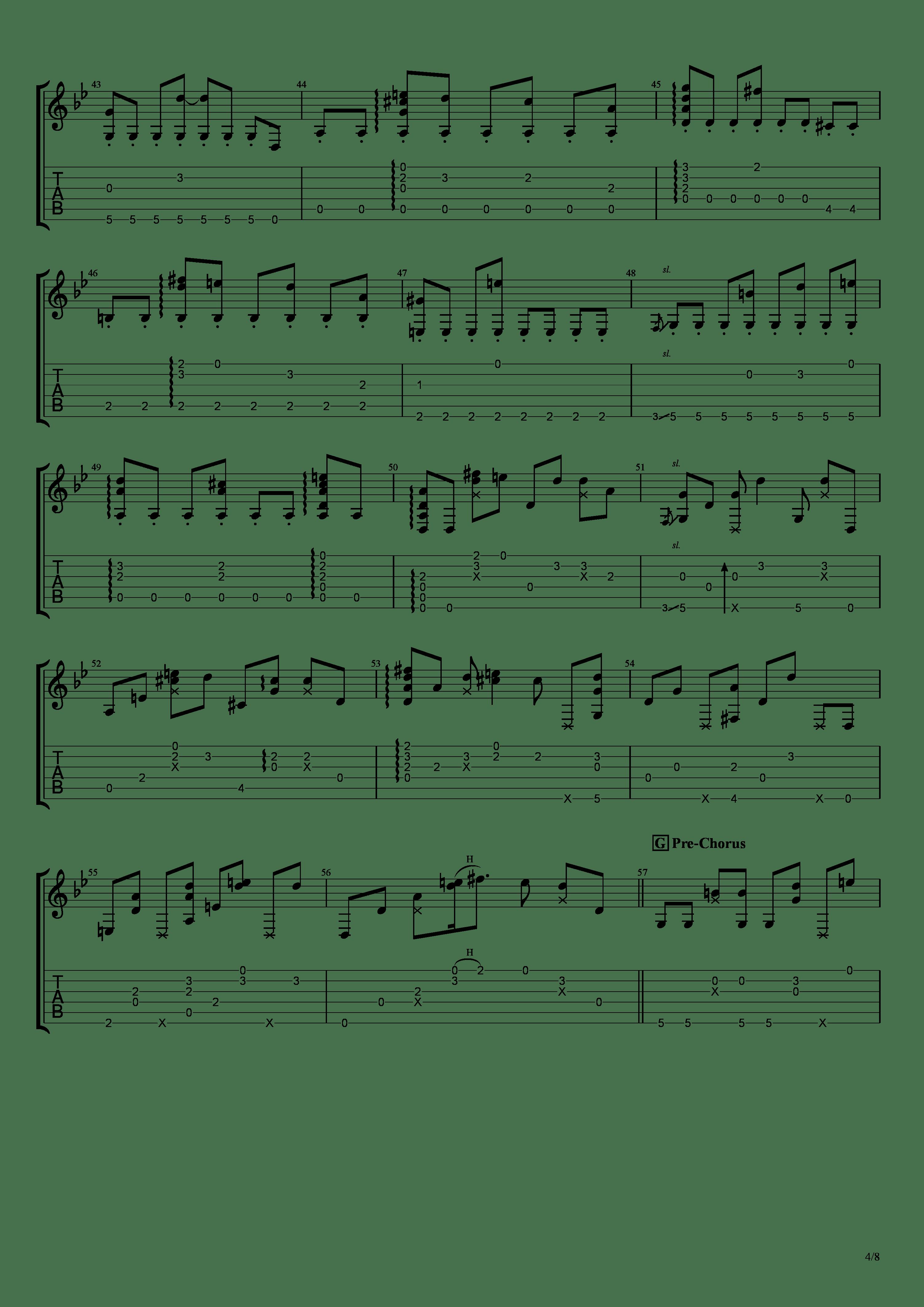 穏やかな日吉他谱4