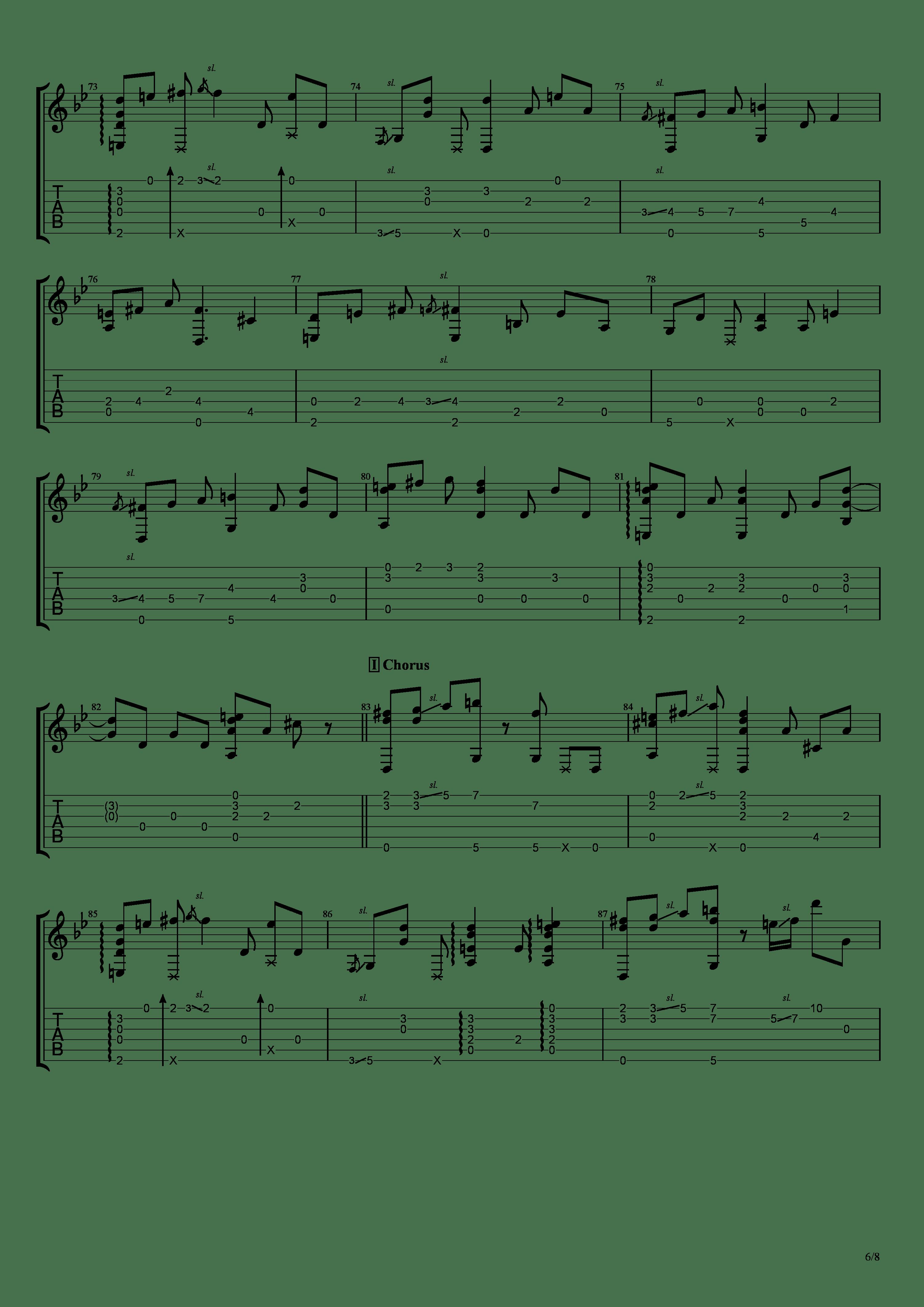 穏やかな日吉他谱6