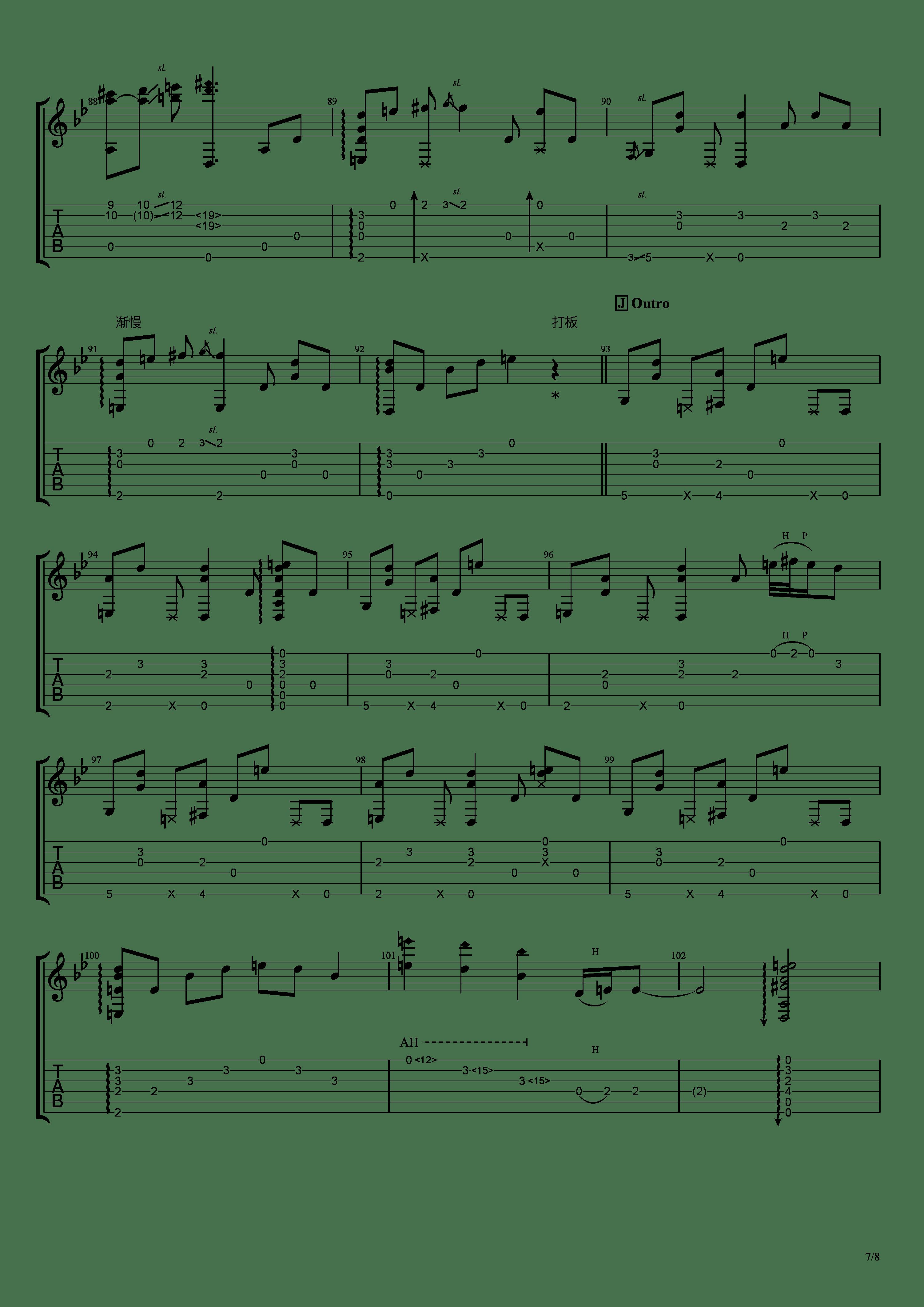 穏やかな日吉他谱7