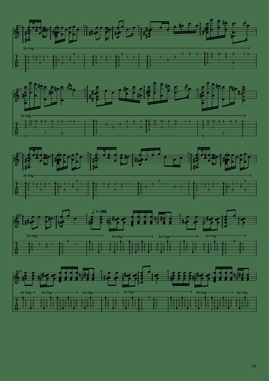 恋のうた 总之就是非常可爱 Op吉他谱3