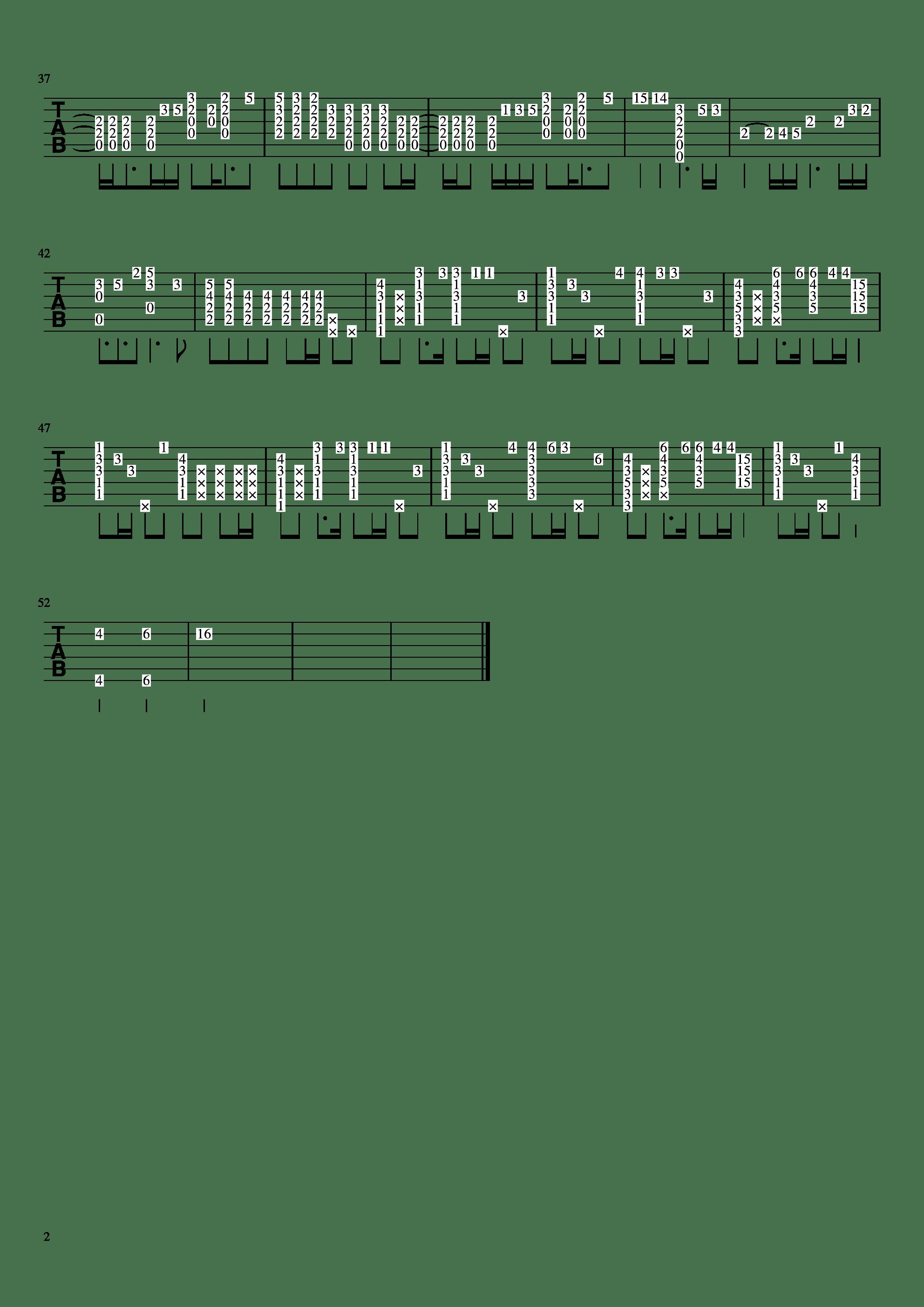Rubia(指弹)吉他谱2