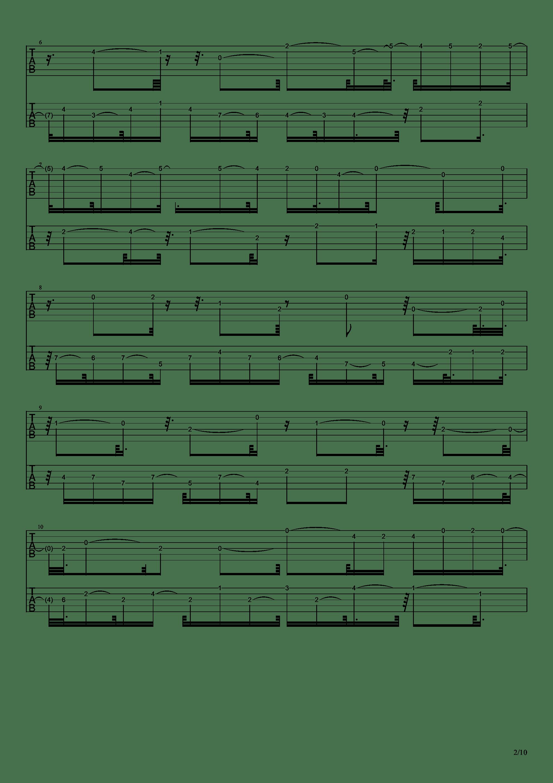 E大调前奏曲吉他谱2