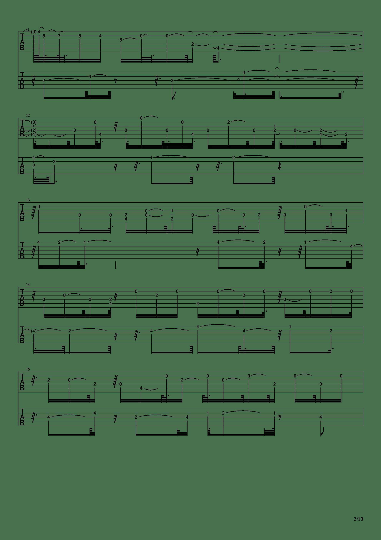 E大调前奏曲吉他谱3