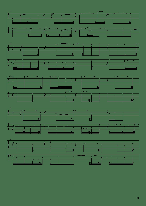 E大调前奏曲吉他谱4