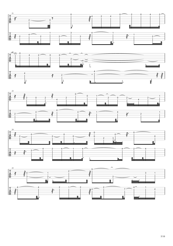 E大调前奏曲吉他谱5