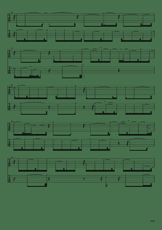 E大调前奏曲吉他谱6