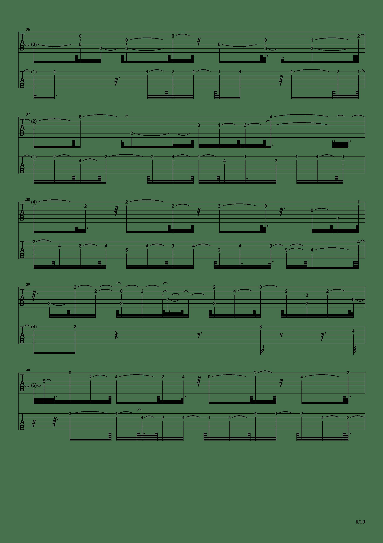 E大调前奏曲吉他谱8