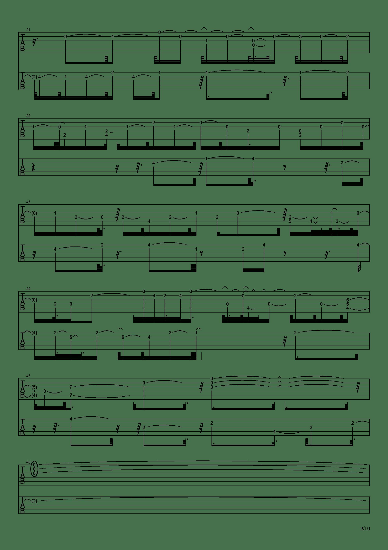 E大调前奏曲吉他谱9