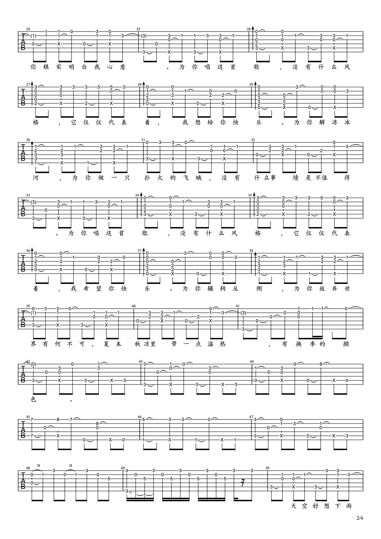 有何不可吉他谱2