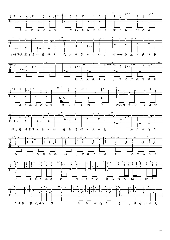有何不可吉他谱3