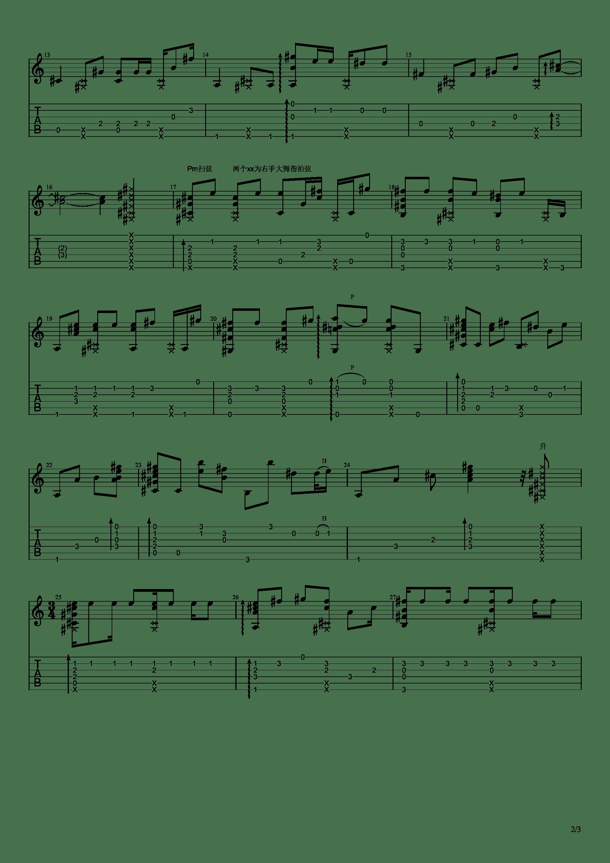 魔法使的新娘 - Here吉他谱2